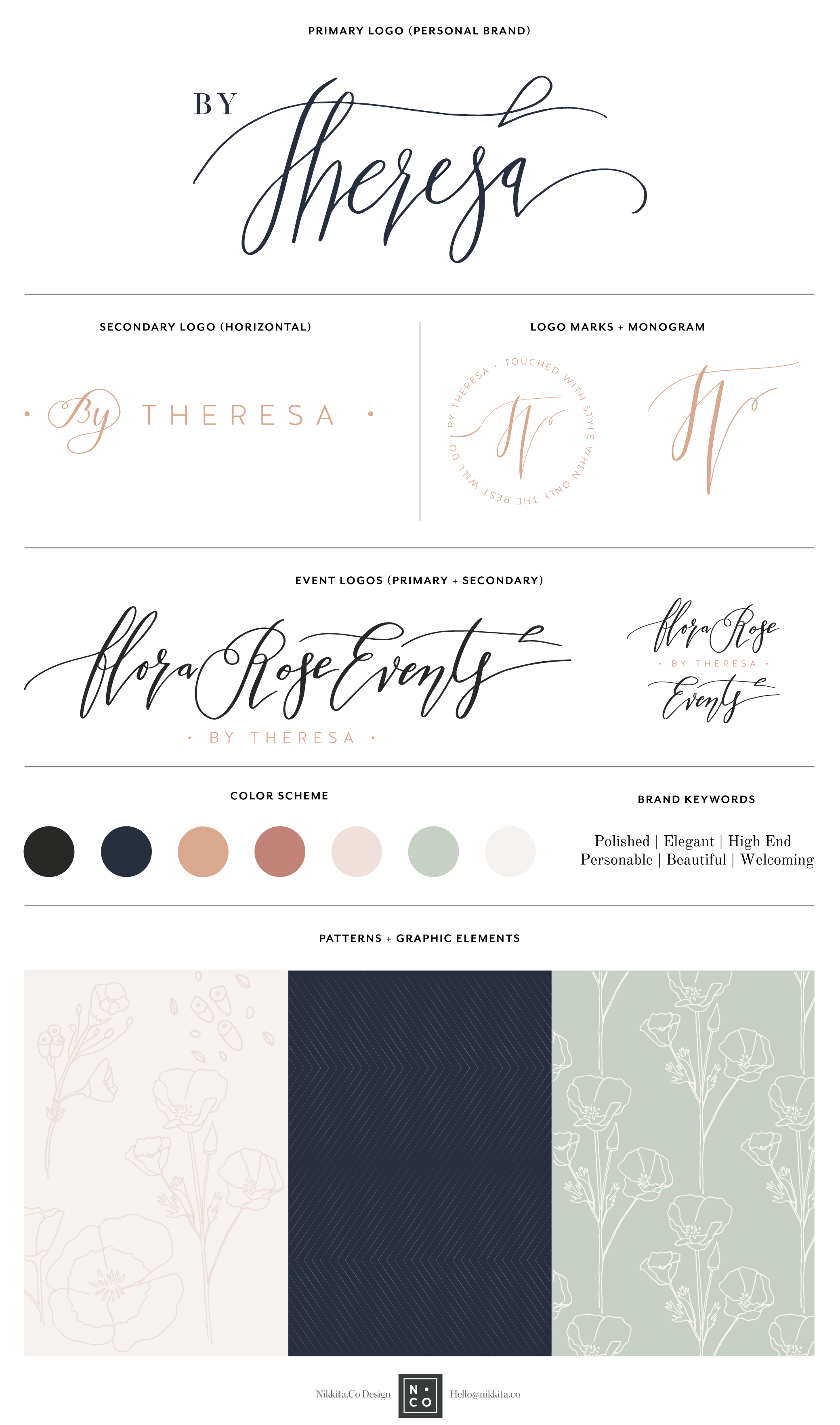 Event Planner Logo and Branding by Nikkita Cohoon | Detroit + Sacramento Brand Design | http://nikkita.co
