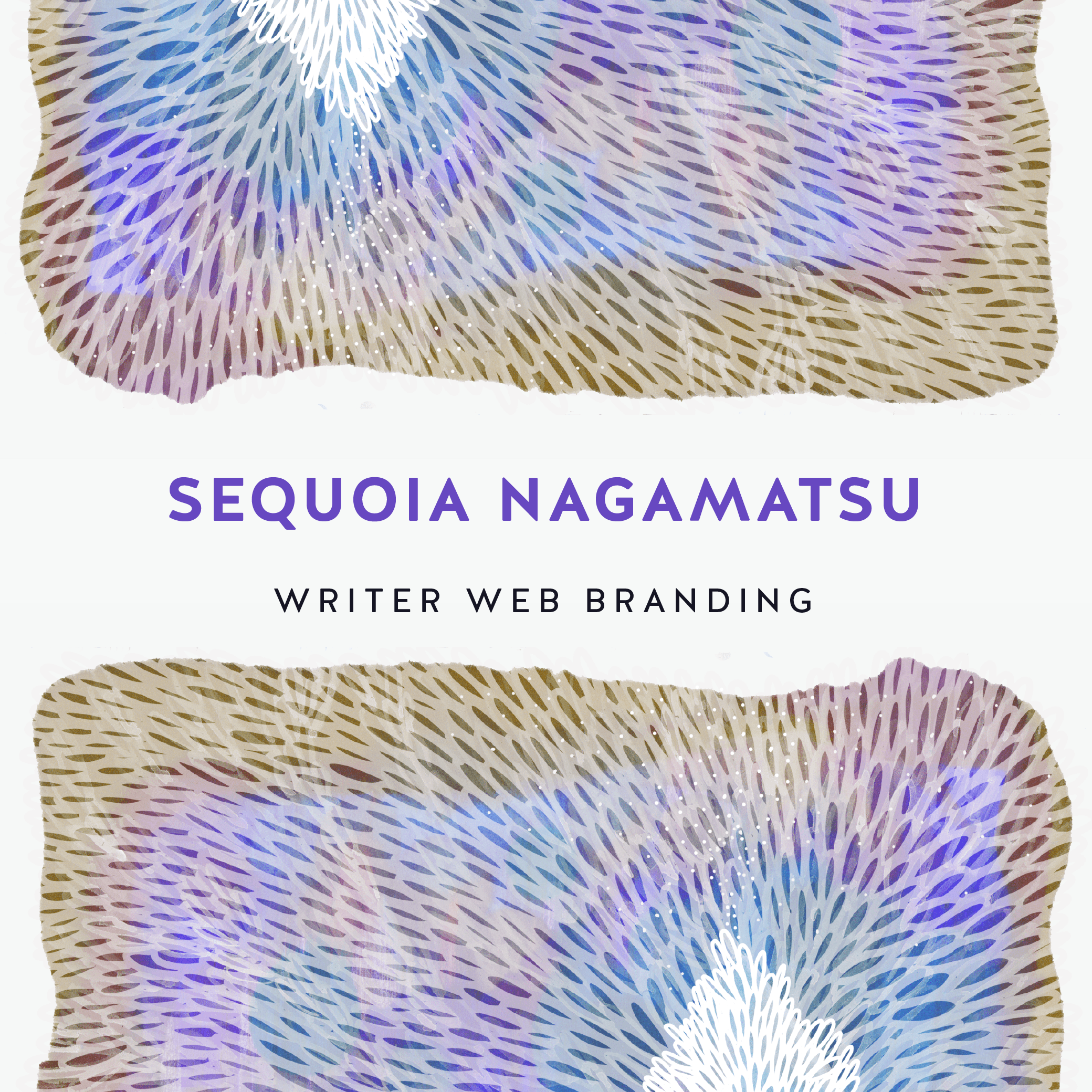 Writer Poet Author Web Branding for Sequoia Nagamatsu | We wanted to create an immersive experience with the art. | By Nikkita.Co http://nikkita.co