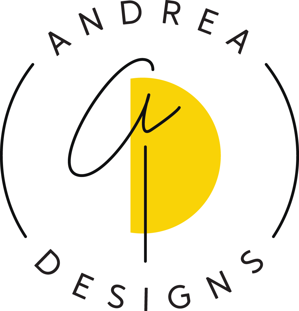 Are you in love with the logo like I am? Good! It was designed by the uber-talented Nikkita of Ritual Morning Studio. Yep...I'm a designer who does branding and hired another designer. I wanted a fresh perspective and someone who could bring their own aesthetic to it. I am OVER THE MOON about it. - —Andrea williams