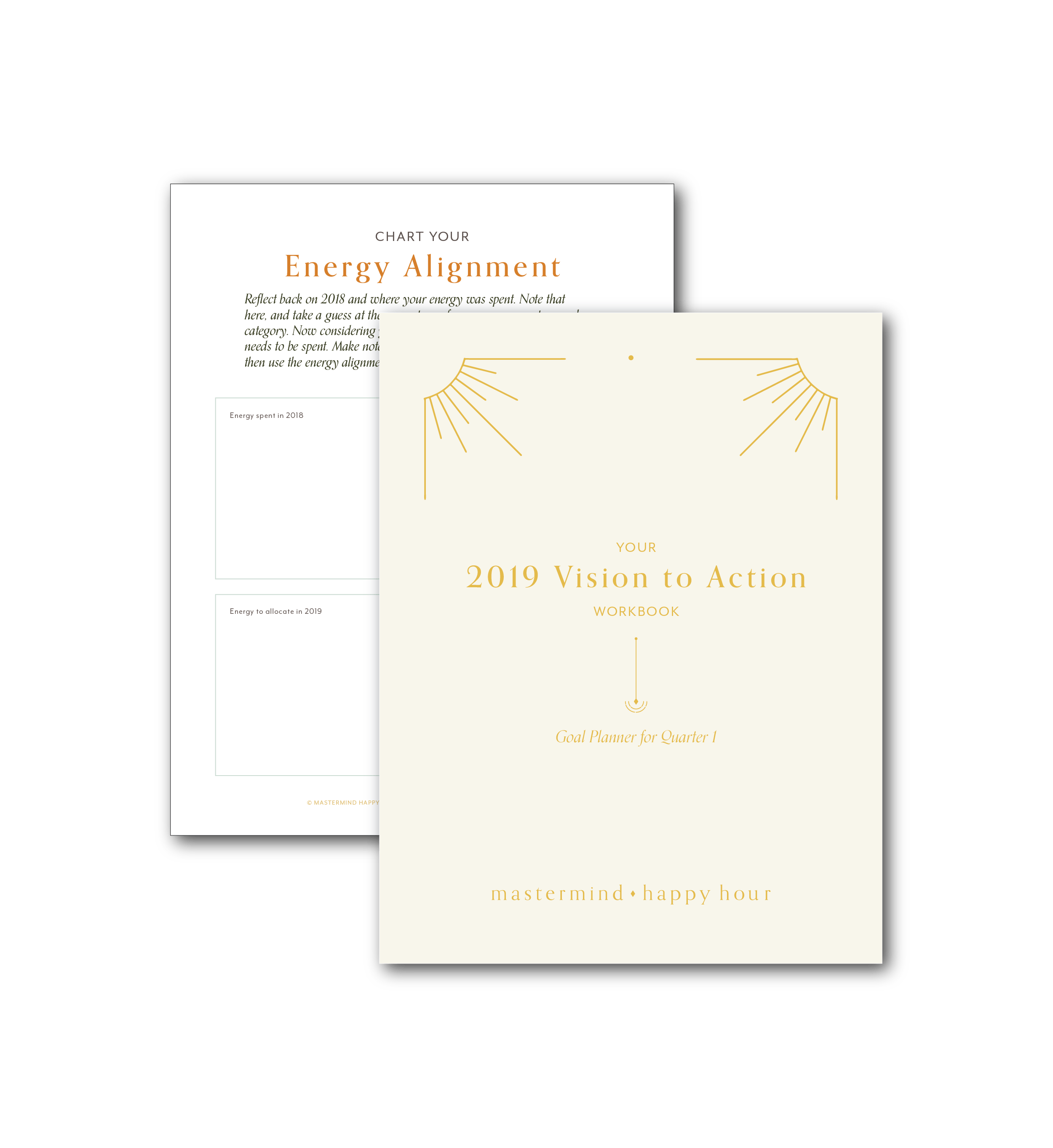 Mastermind Happy Hour Workbook Design