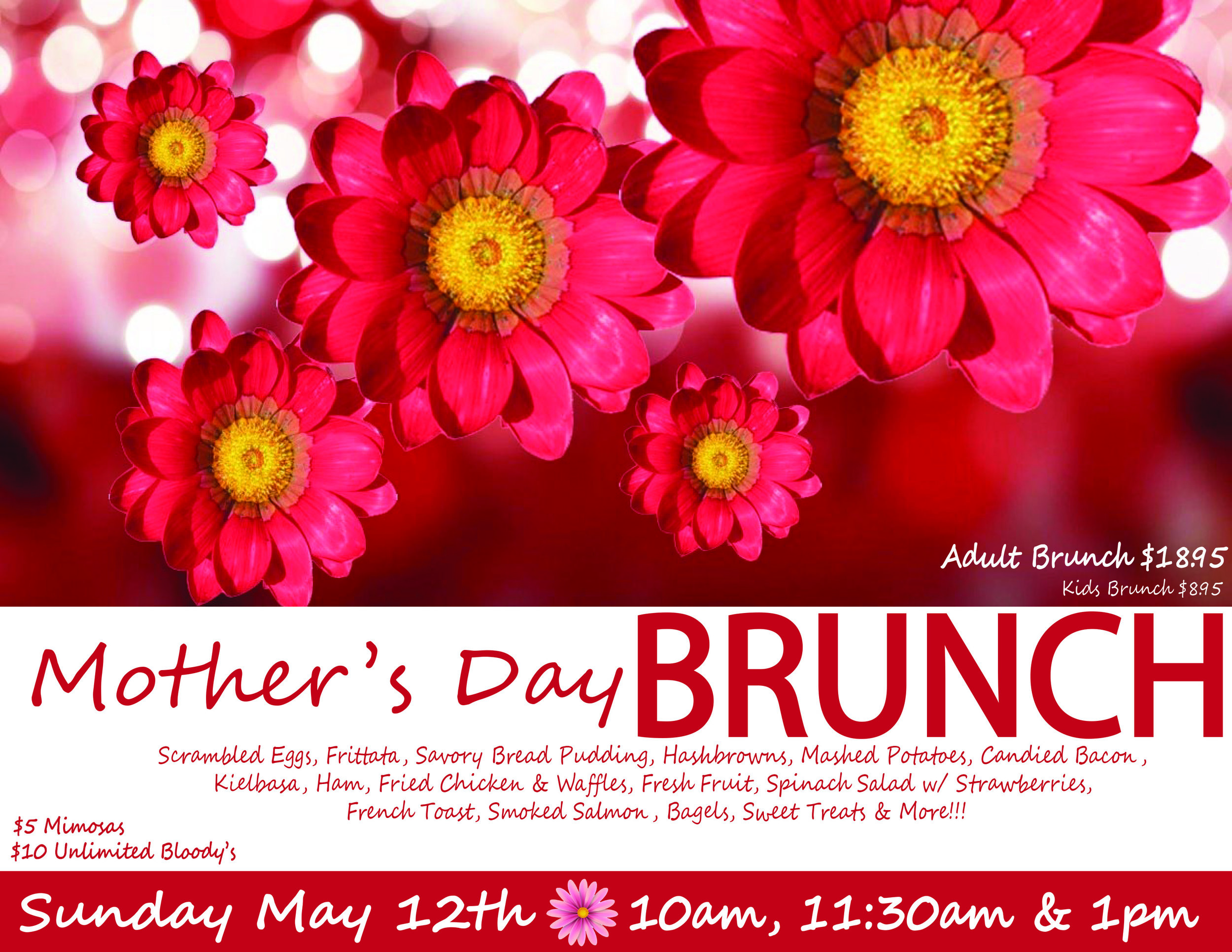 Join us for Mother's Day Brunch!!!