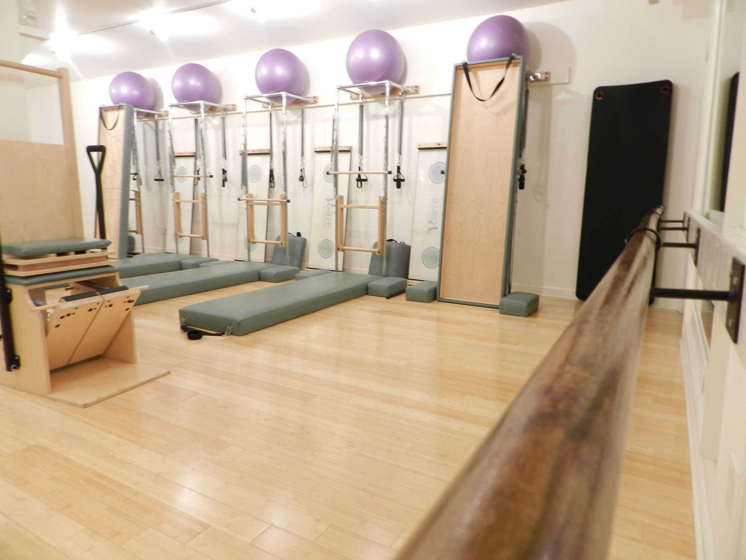 If you usually take Pilates mat classes, splurge on an apparatus class every now and then. Mix in some Barre classes for cardio and sculpting.