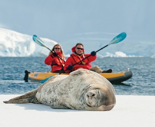Antarctica - Play with penguins and plant your feet on the seventh continent on an expedition to Antarctica.