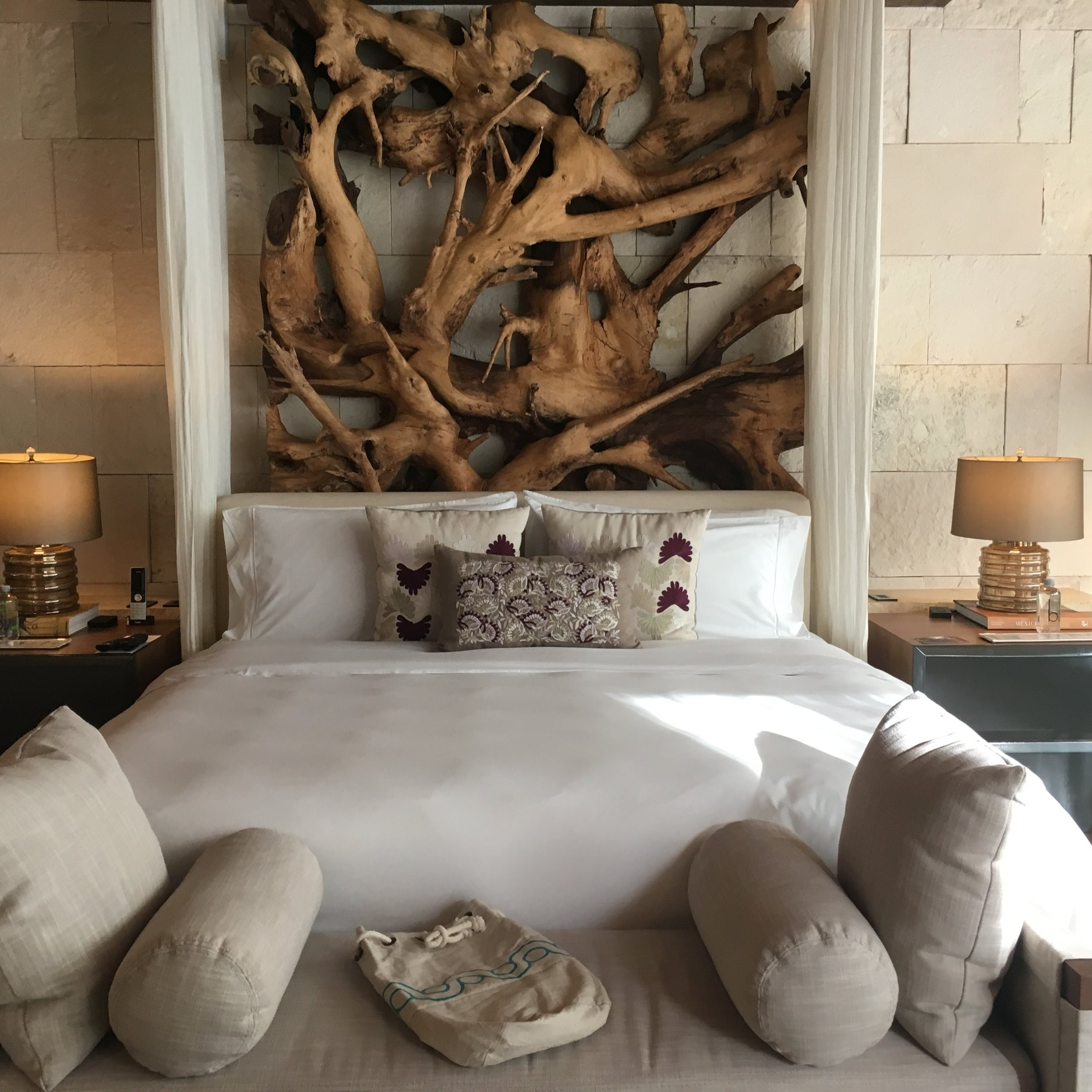 Warm, earthy tones and comfy interiors characterize accommodations at Chable.