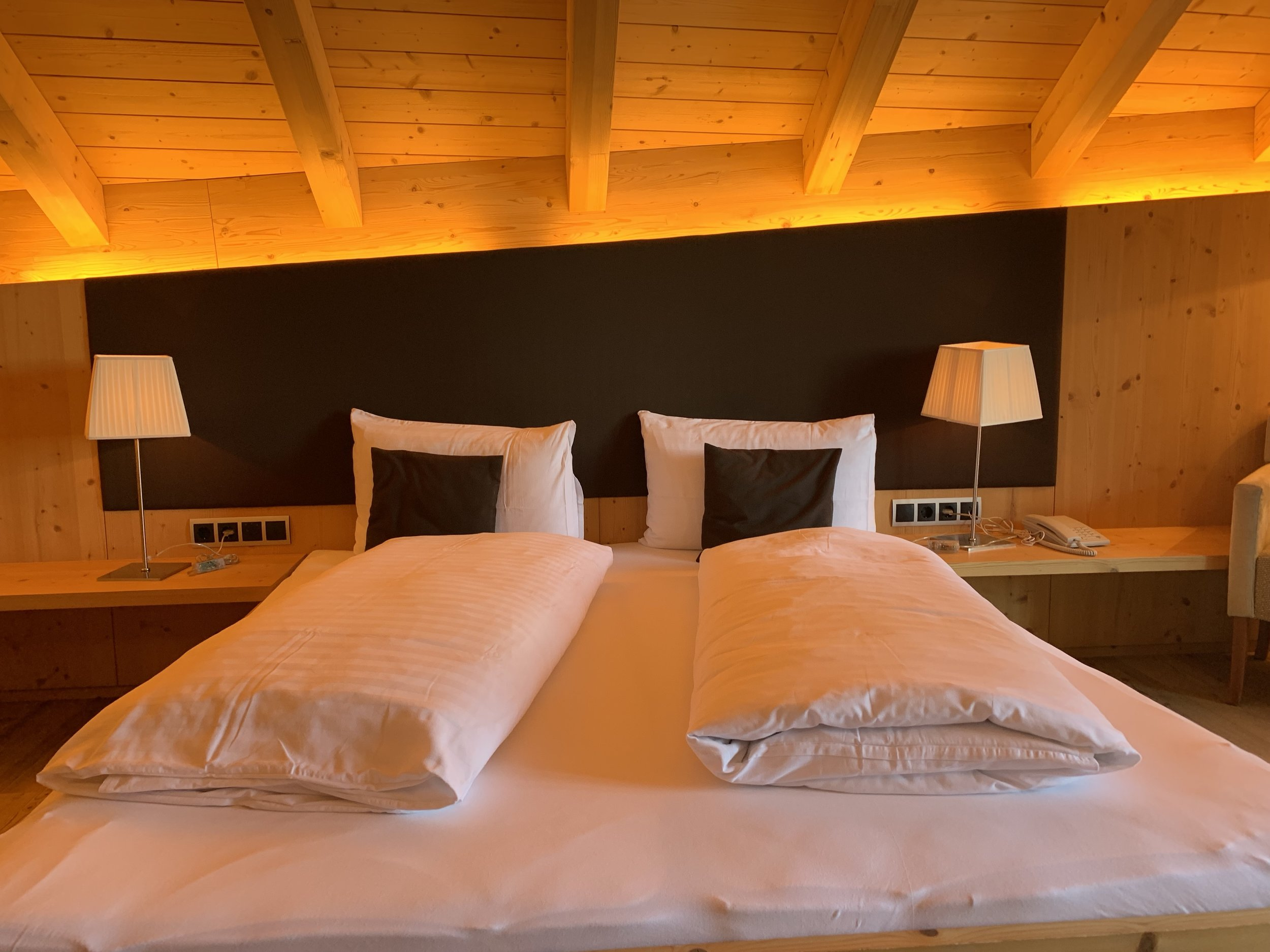 Rooms at rifugios are comfortable, cozy, and warm.