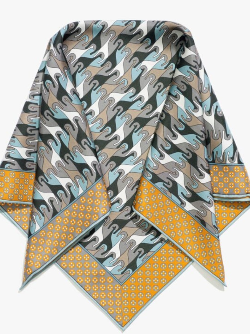 "Silk Foulard - ""I always carry a cashmere sweater, poncho and foulard with me. I just got a Loro Piana one that I love."""