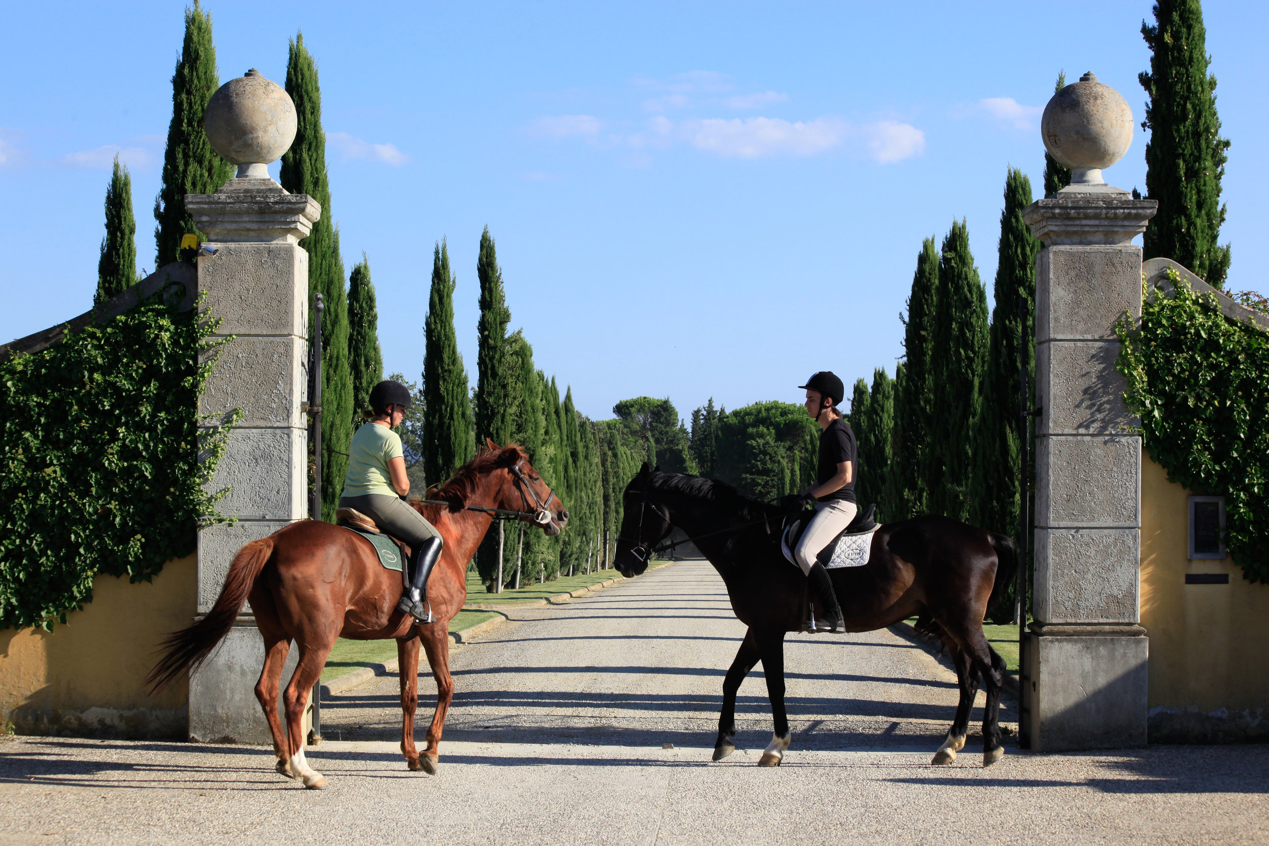Activities range from wine tasting to horseback riding…to just vegging out.