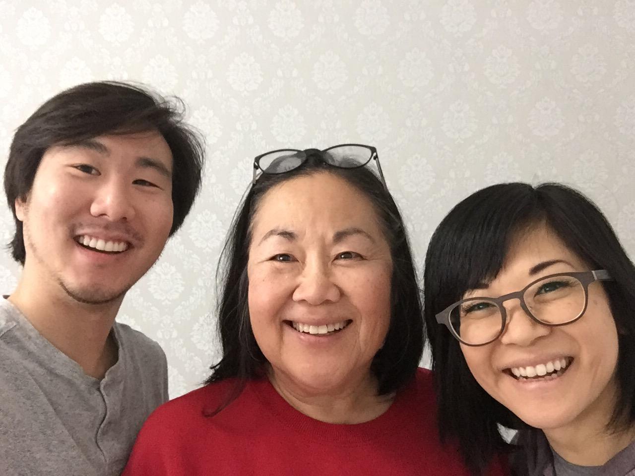Keiko Agena & Emily Kuroda with Asian AF creator Will Choi