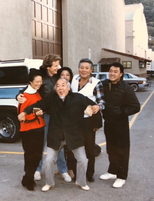 Our last day? Pat in front; Nobu, ?, Tamlyn, Danny and Roger Ito (Pat's stand-in, stunt double and friend)