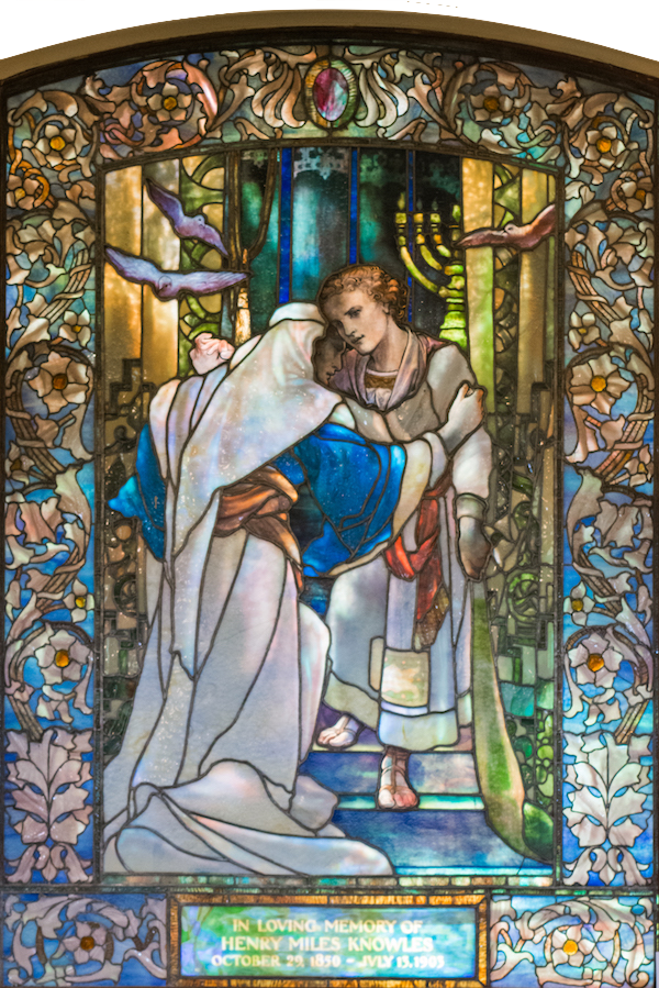 Jesus in the Temple: Tiffany Studios 1903
