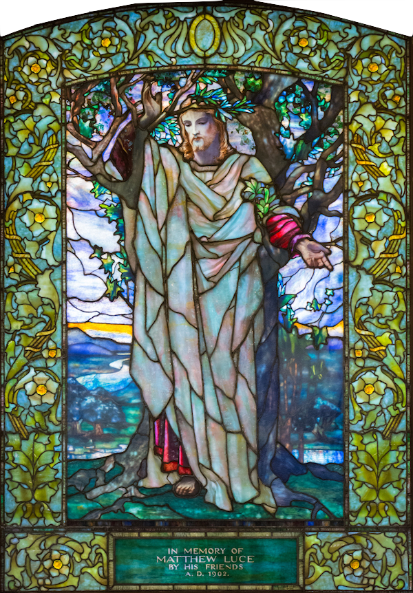 Sermon on the Mount: Tiffany Studios/ New York 1902
