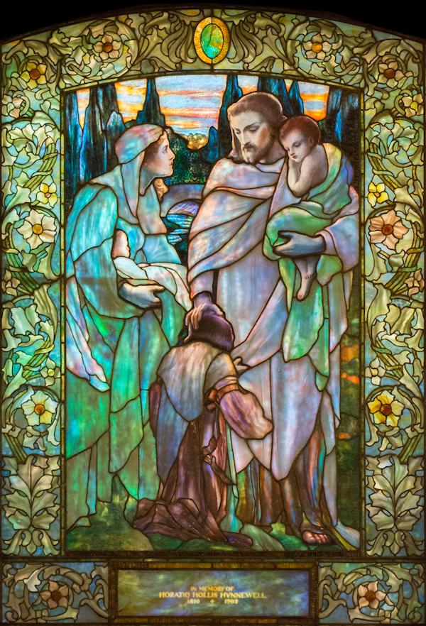 Jesus and the Children: Tiffany Studios/New York 1904