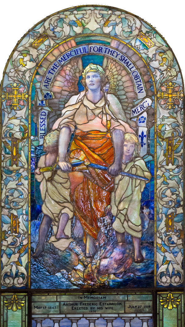 Blessed are the Merciful: Louis C. Tiffany/New York-1920