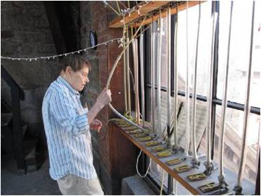 ASC hand rung bells from the steeple