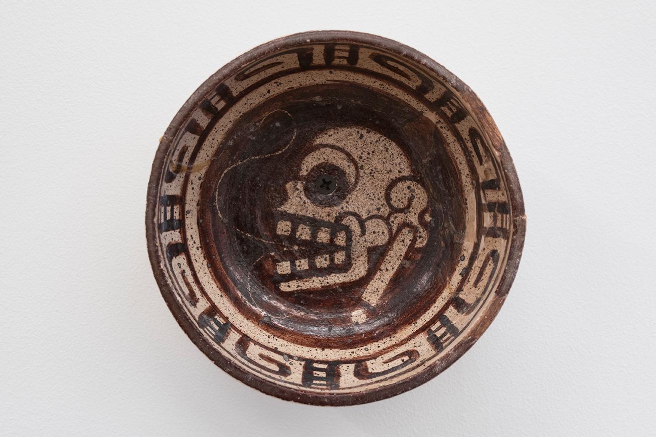 Steve Keister  Screw-Eye-Skull-Bowl  2009 Glazed ceramic 5 x 5 x 3 inches