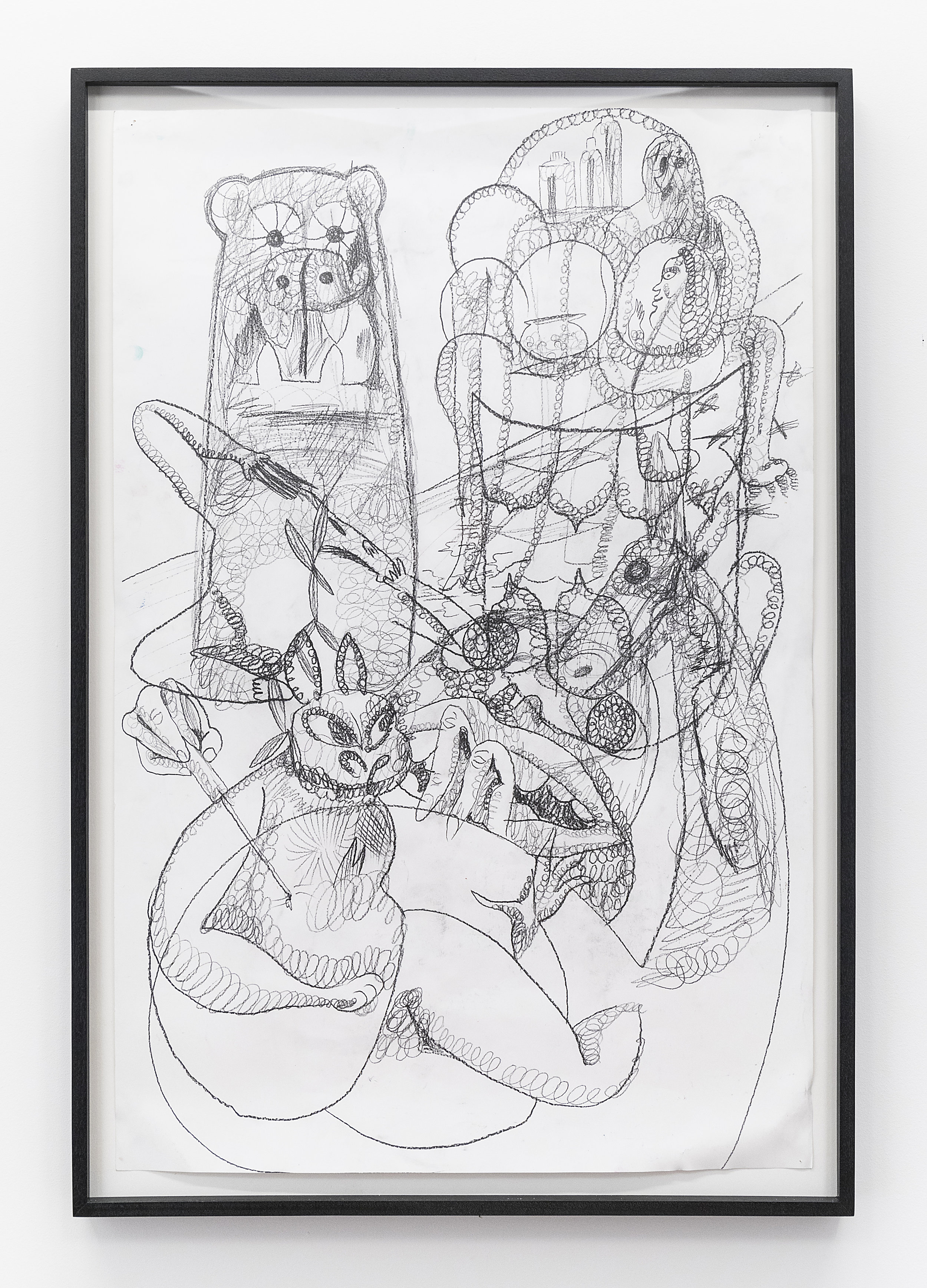Billy Grant  Lambsy Doodle  2018 Pencil on paper 35 x 22 1/2 inches