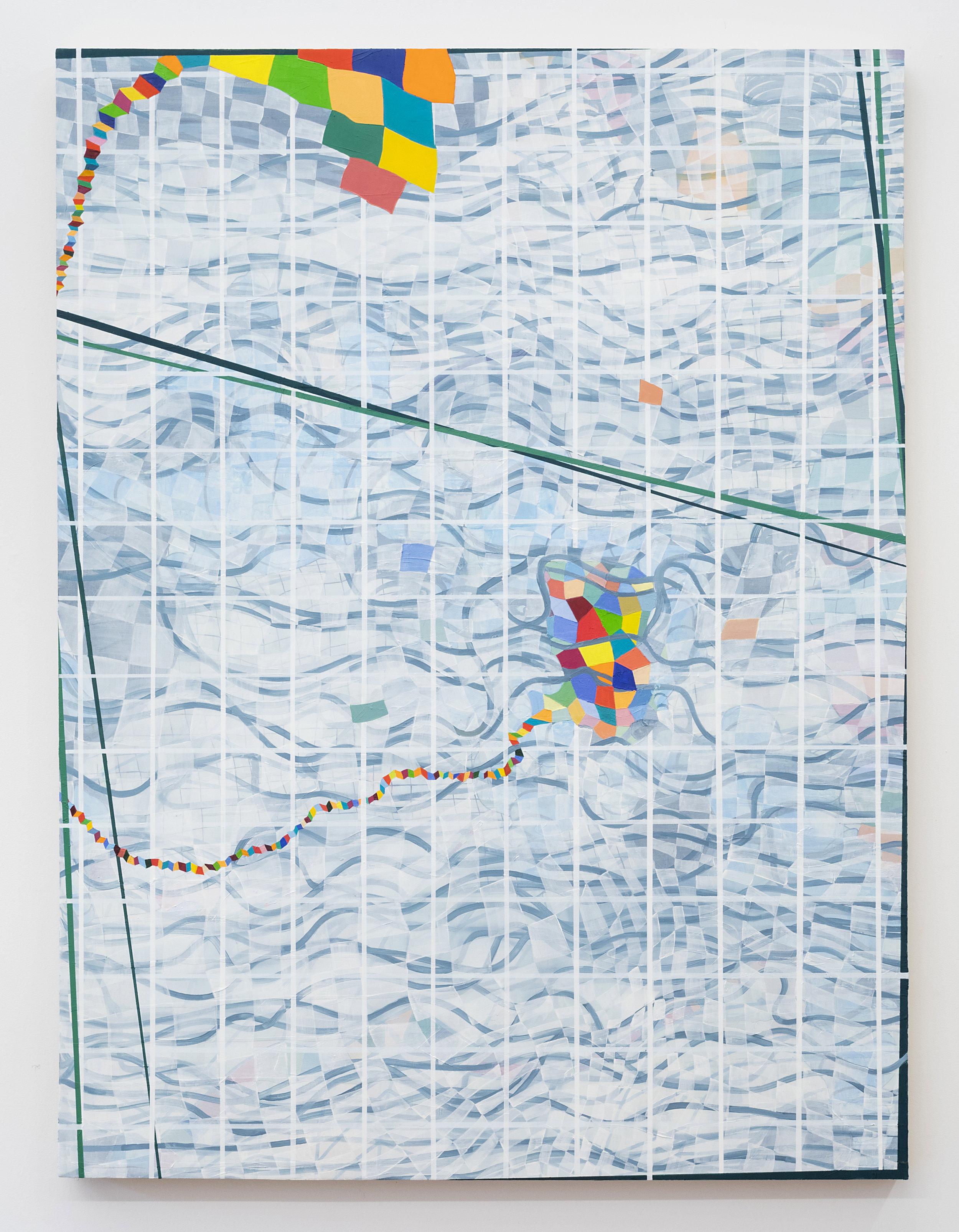 Lisa Corinne Davis  Phantasmal Placement  2018 Oil on canvas 48 x 36 inches