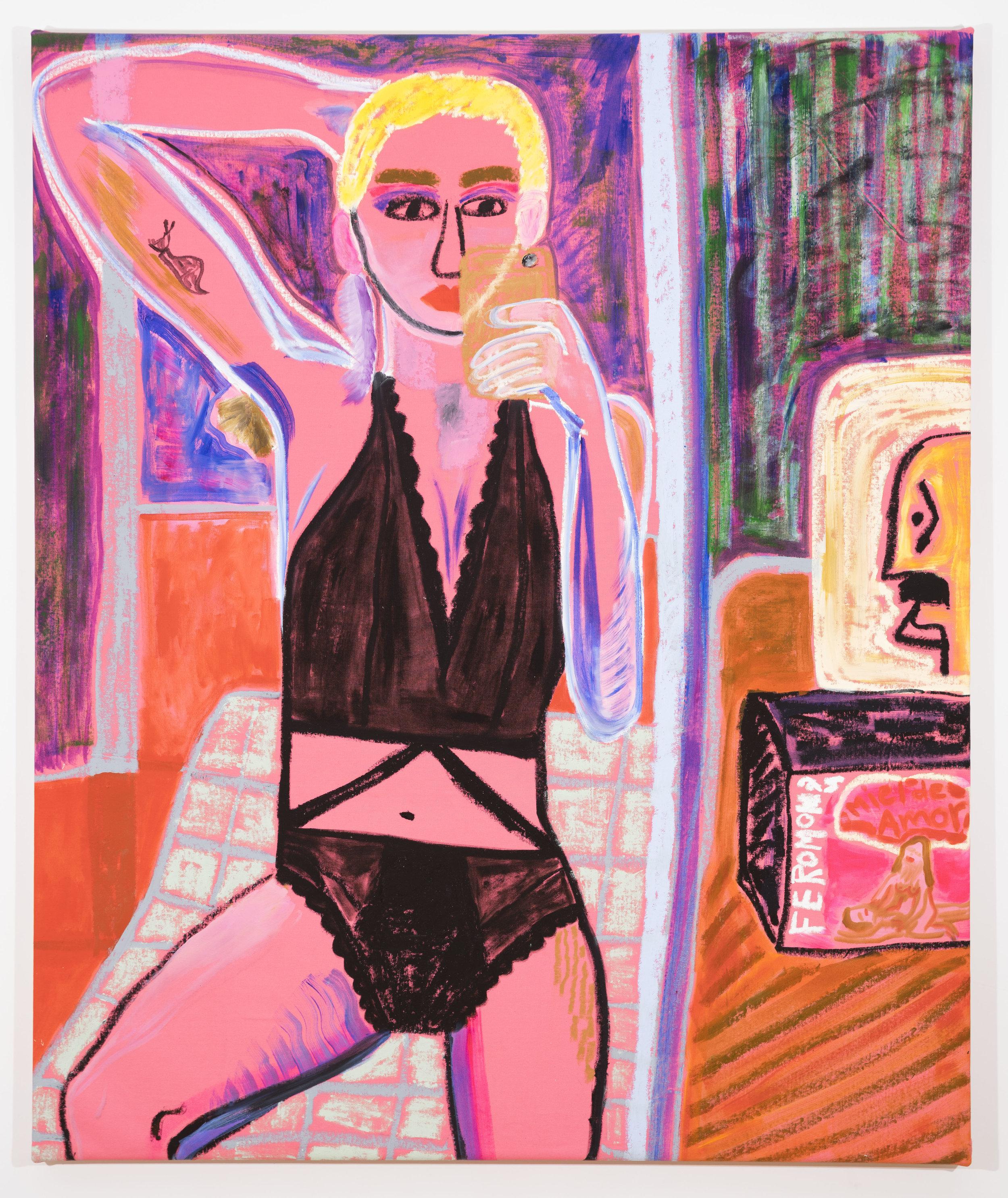 Jennifer Sullivan  Miel de Amor  2018 Oil and oil stick on canvas 60 x 50 inches