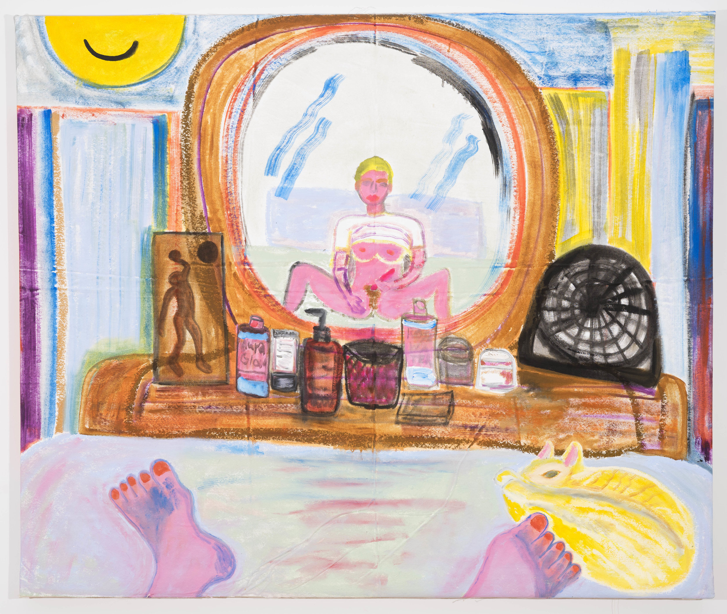 Jennifer Sullivan  Smile  2018 Oil and oil stick on canvas 42 x 50 inches