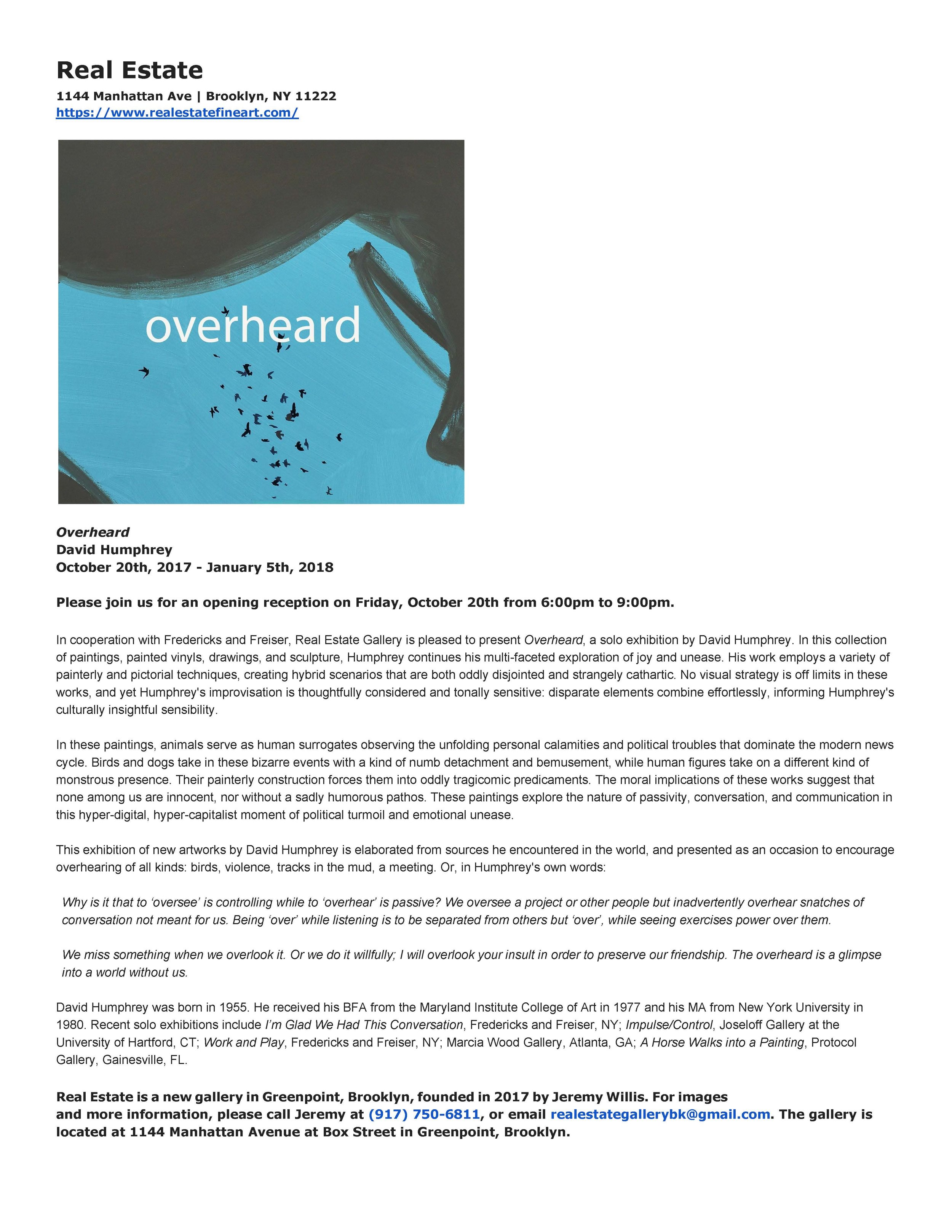 David Humphrey - Overheard - Press Release.jpg