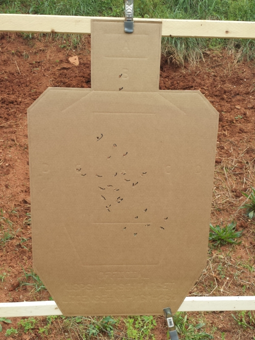 My qualification target (marked with Sharpie by Andy).