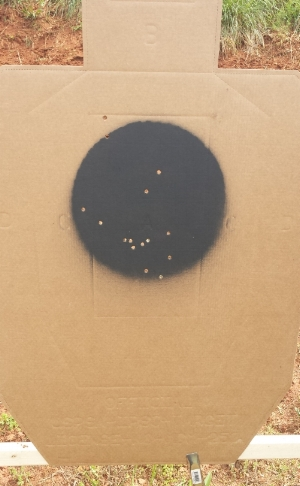 My target: 5 each from standing, kneeling, and prone from 50 yards.