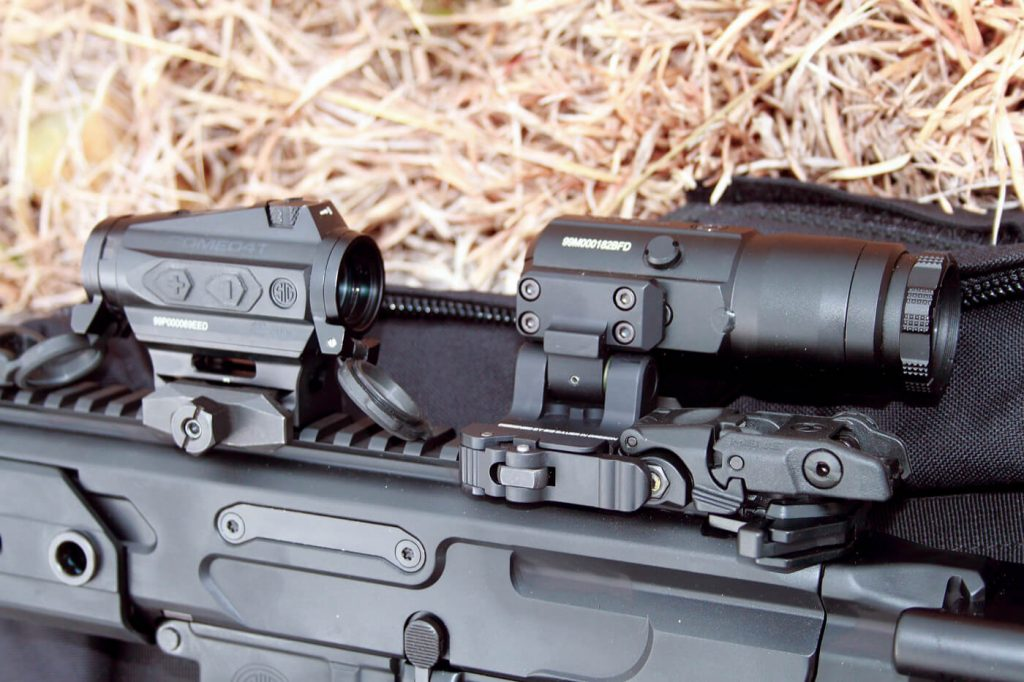 The SIG Sauer ROMEO4T red-dot and SIG JULIET magnifier proved ideal companions for the MCX Rattler.