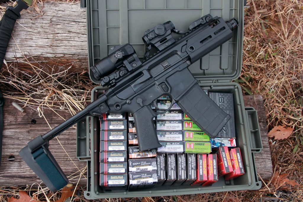 The .300 BLK cartridge is well-supported by the industry via numerous load options.