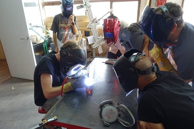 Last week Matt was in Madrid taking part in a workshop with Matthew from @saffronframeworks where we talked about running a framebuilding business, custom building vs production work and ran a demo of welding a brazing.  Big thanks for @et_bicicleta and @arregui_velazquez for being great hosts and to all that came along to take part.  #framebuilding #fabrication #steelisreal #workshop #fivelandbikes #tig #welding #brazing #teaching