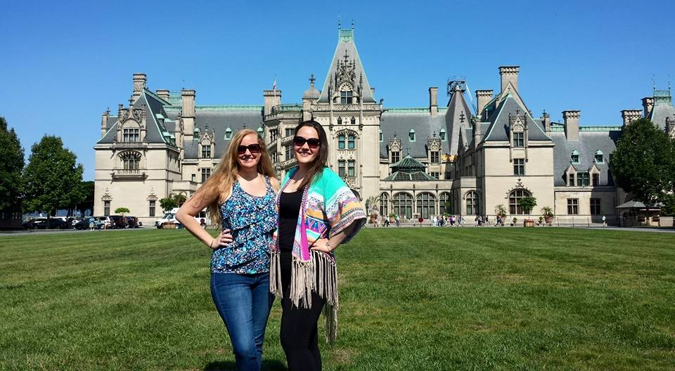 This is Daphne and me in front of the Biltmore Estate in Asheville, NC, in June, 2015.