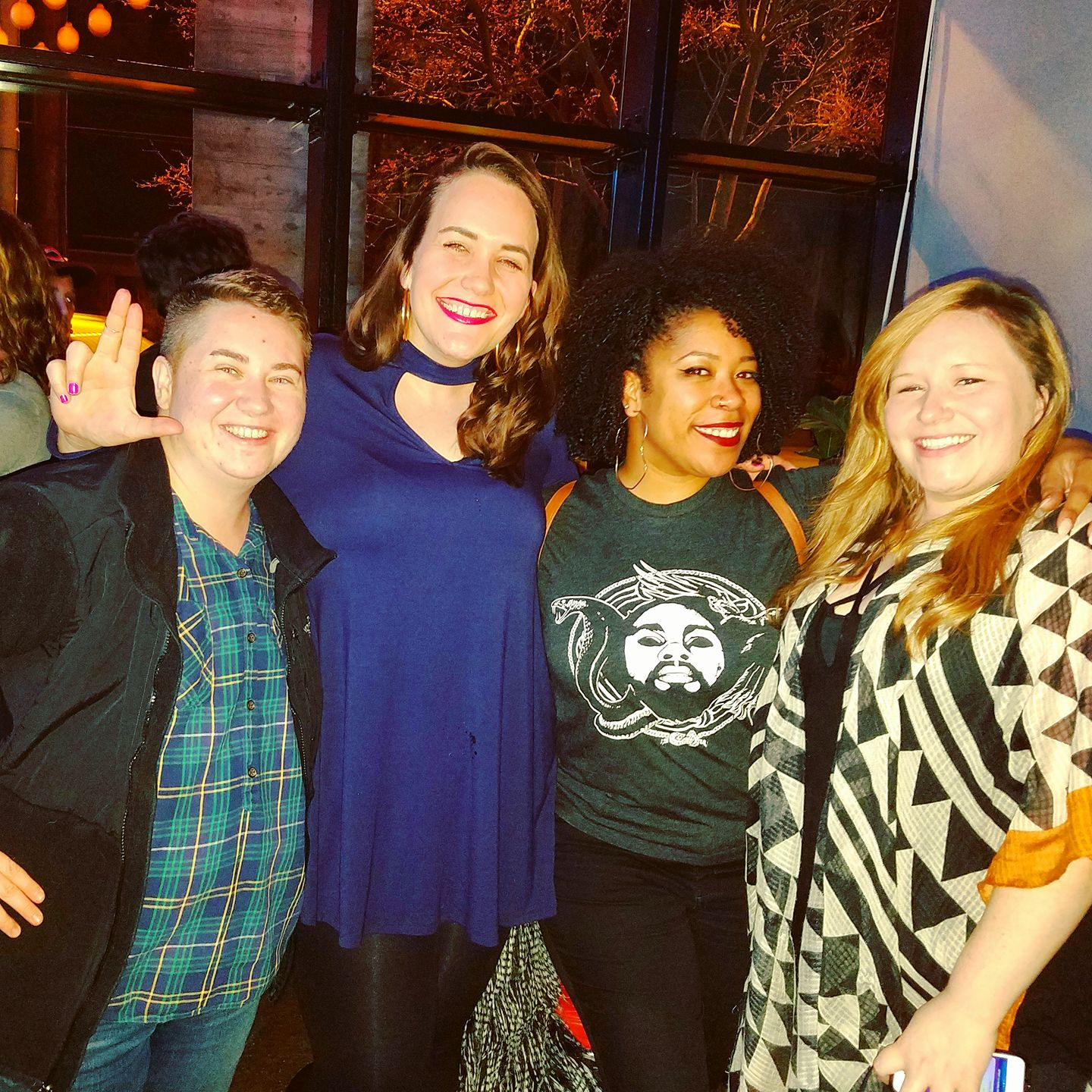 One of my favorite podcasters is  Tracy Clayton  (second from right) of Another Round. She is coincidentally also from Louisville, and my friends and I met her in 2017!