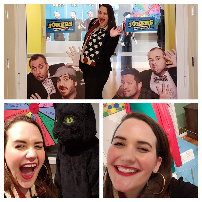 Google Photos made this little collage for me with some of the photos I took at the Staten Island Museum when I was checking out the Impractical Jokers: Homecoming exhibit.