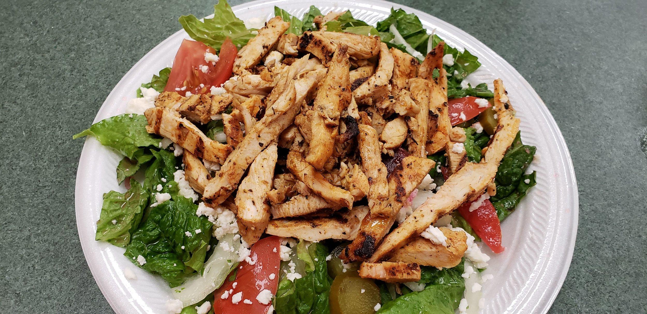 Maira's Greek Salad with Chicken
