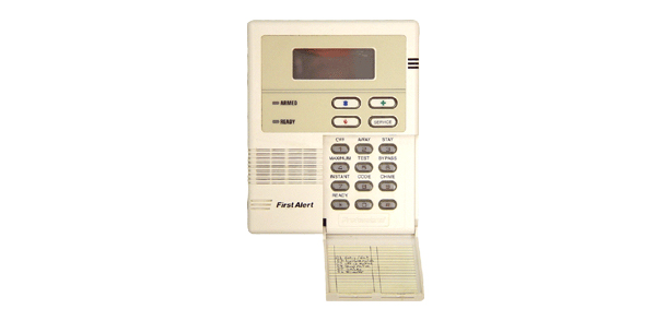 Keypad for the First Alert alarm system - NCA Alarms Nashville TN
