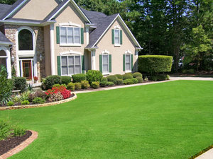 Picture of a home with a sunlit front yard