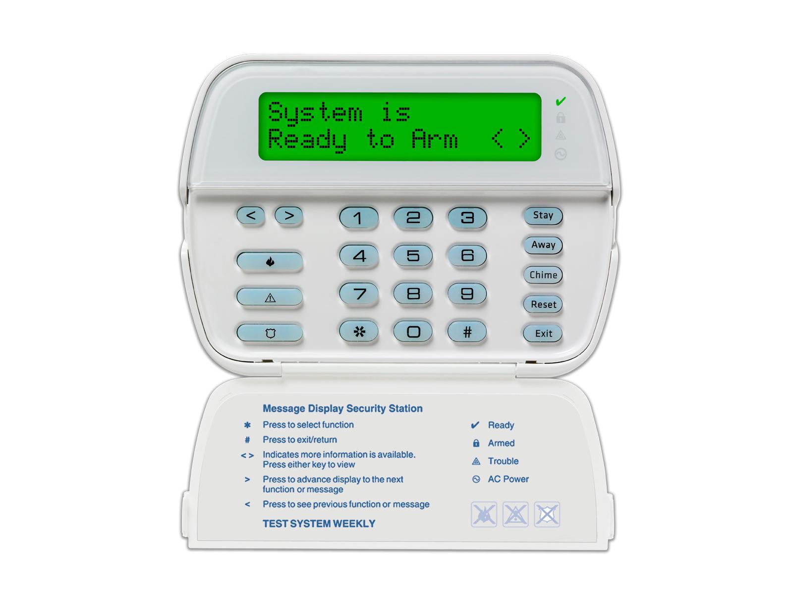 Keypad for the 5500 DSC Power Series Custom Alpha alarm system - NCA Alarms Nashville TN