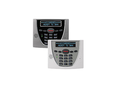 Keypad for the 6460 Honeywell Premium Alpha alarm system showing LCD as disarmed - NCA Alarms Nashville TN