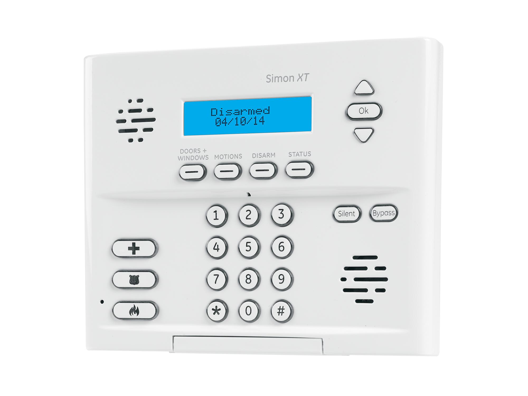 GE Simon XT alarm system keypad - NCA Alarms Nashville TN