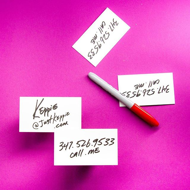 Business card design by @imdustinoneal for the sexy delicious genius Mr. @justkeppie 💕✍🏻🌸 #businesscards #identitydesign #sharpies #sharpiedesign #greatstudio #handmade