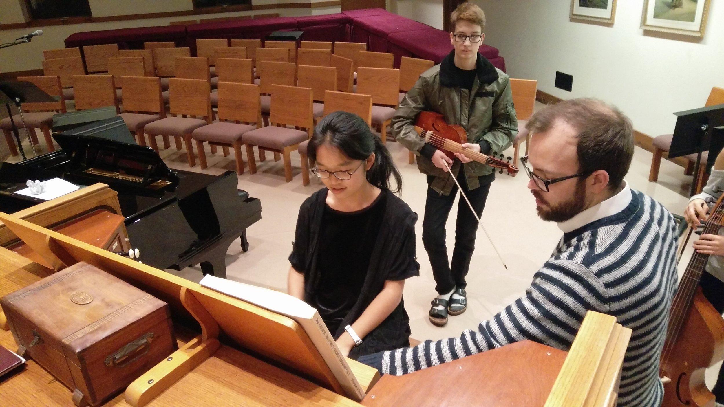 Some fun at the organ with Cantor Giuliani