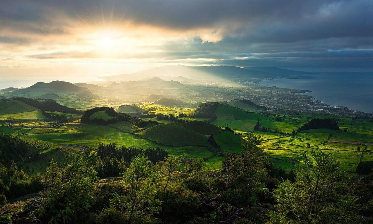 Azores - A Portuguese archipelago of nine volcanic islands in the north Atlantic