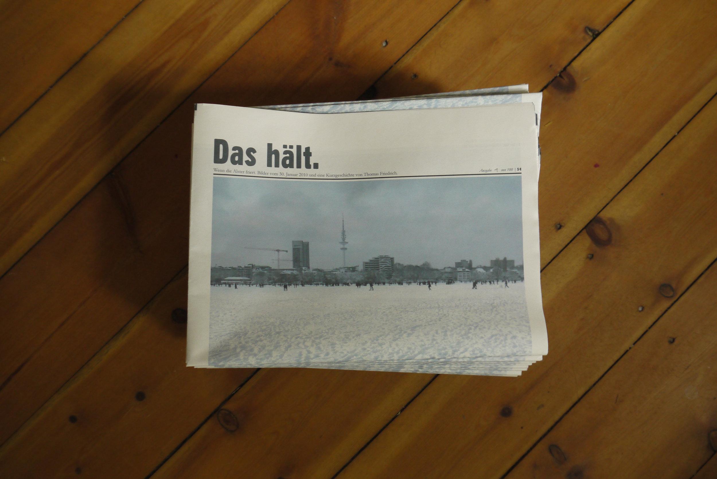 Das hält. - Zeitung, Kurzgeschichte