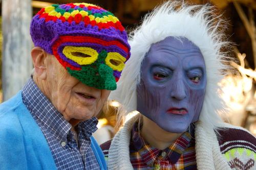 gene hatfield in woven mask