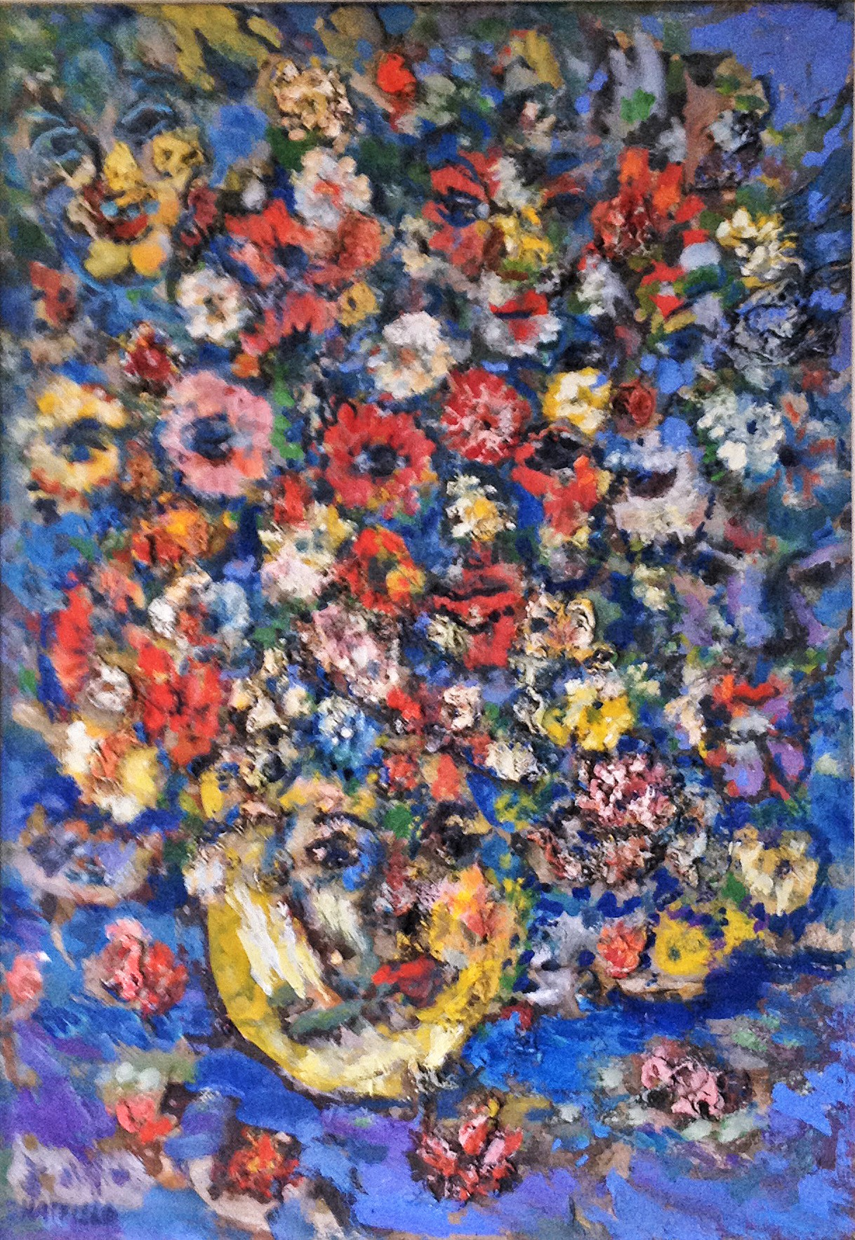 583 - Oil - Summer Flowers & Some are Faces - 16x24 .jpg