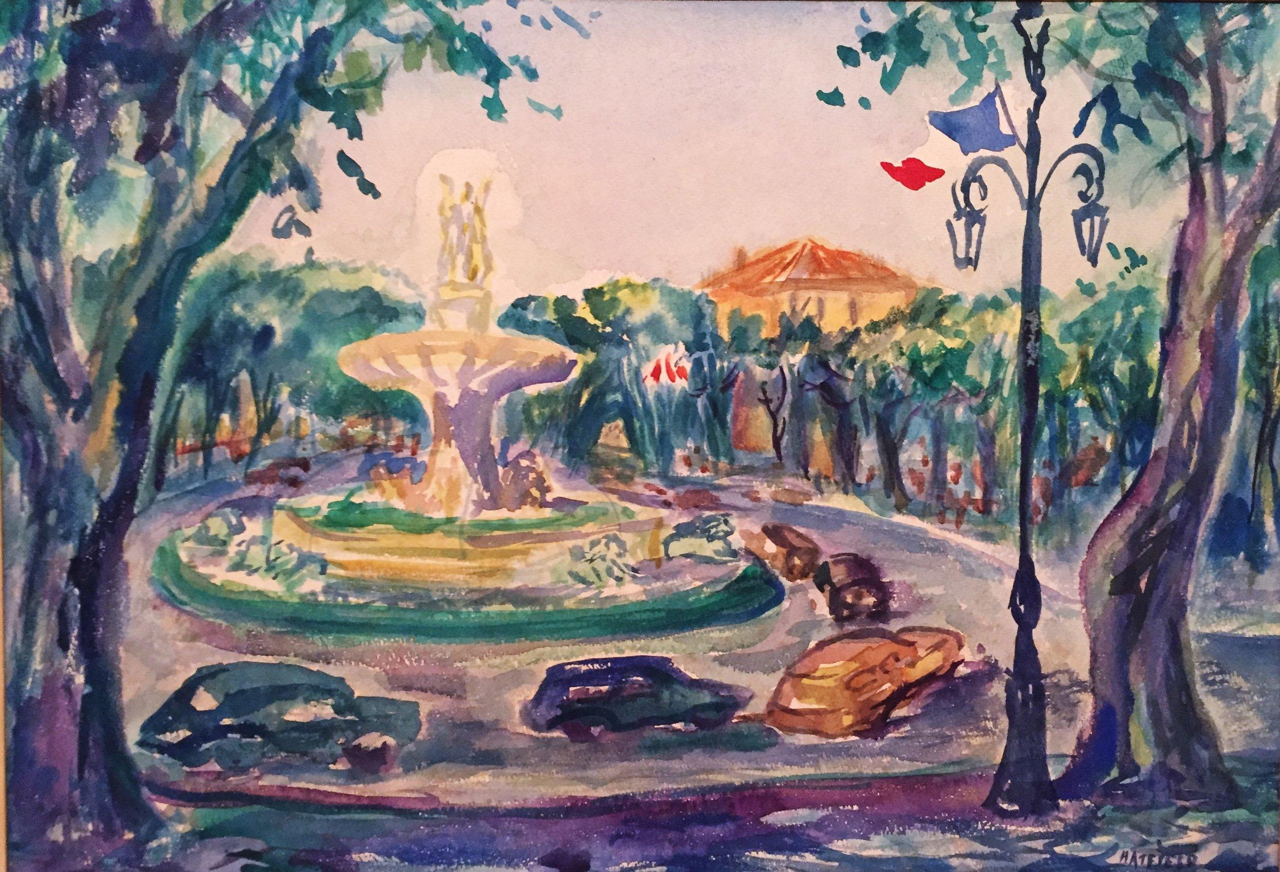 Fountain in Aix-en-Provence, c.1969 .JPG