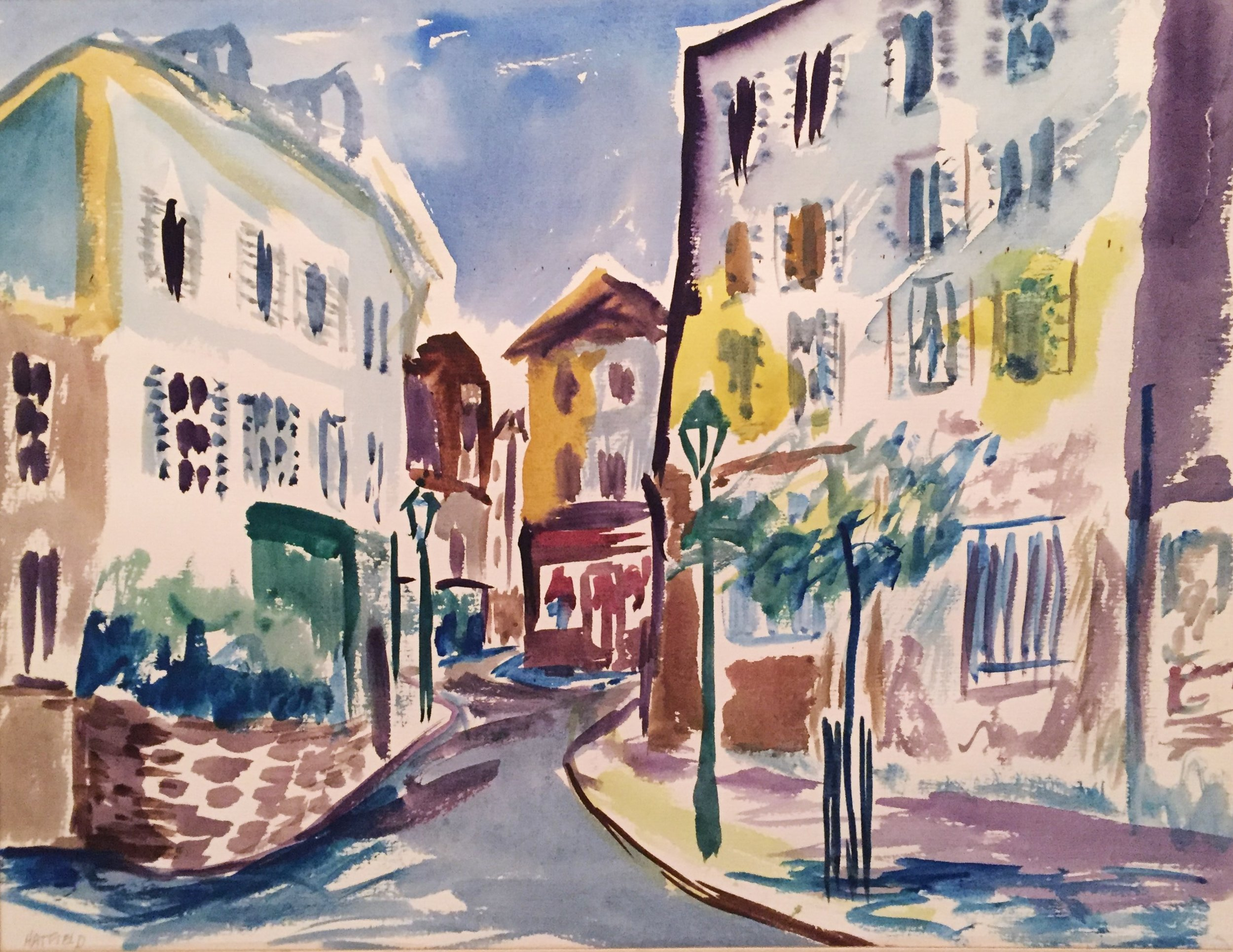 Street Scene Montmarte, c.1972 .JPG
