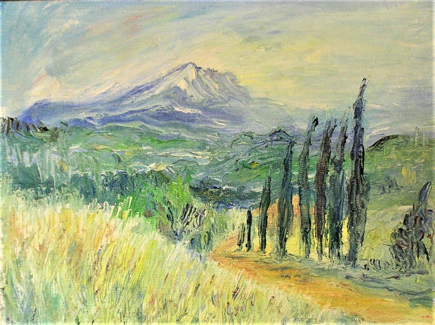 Mont St Victoire with Poplars c.1969 .jpg