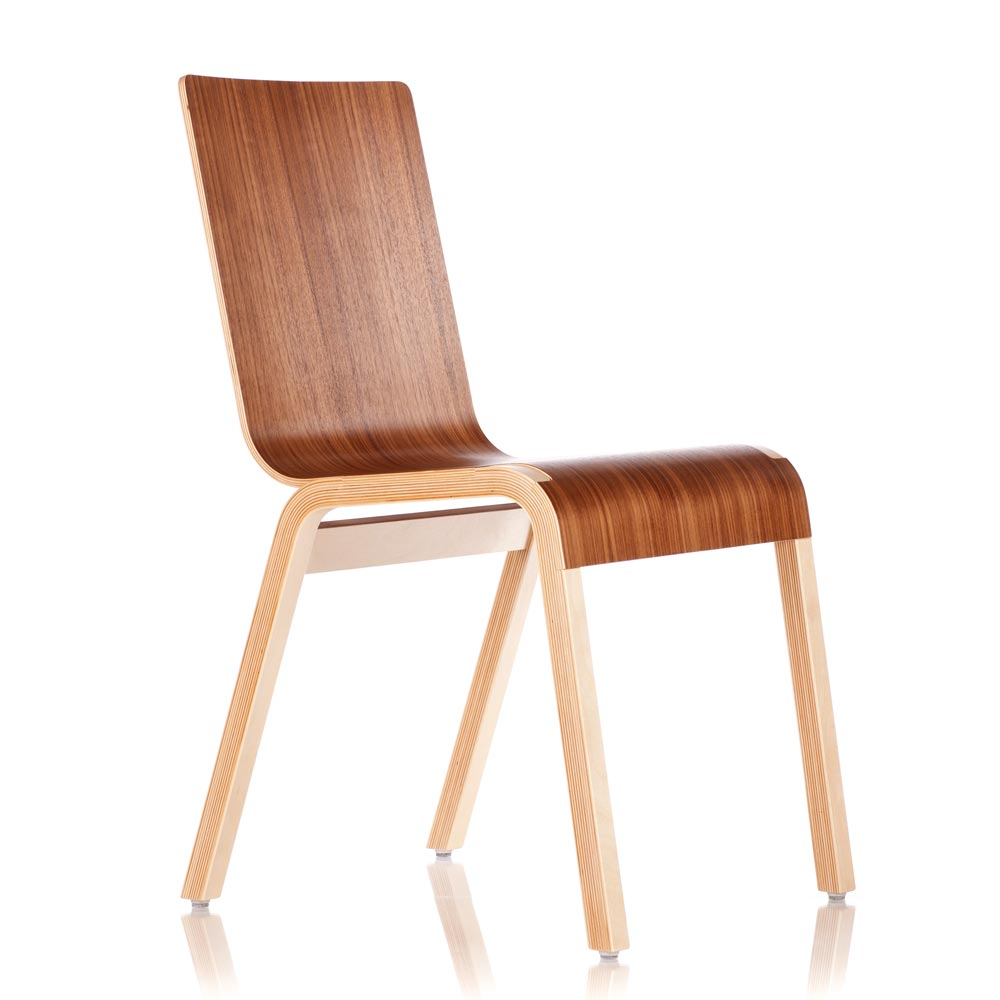 "Bloom Chair ""Zipper"" Walnut"