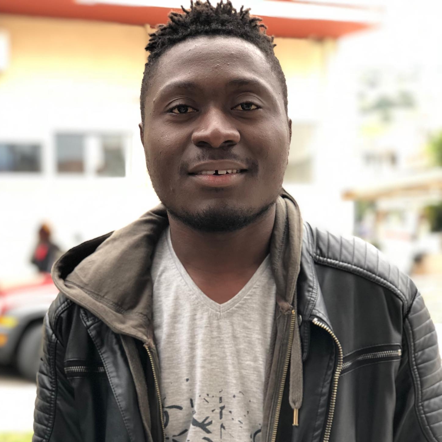 """Bel, 18 - D.R. of Congo   """"Personally, I like to save people. I feel they all deserve my service. I love sports and spending time in university working towards my network technician degree."""""""