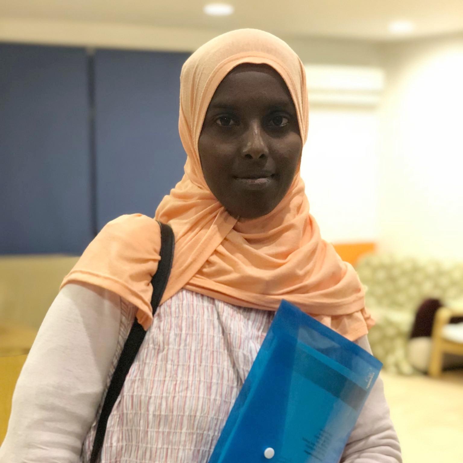 "Djamila, 29 - Djibouti   ""I like teaching because I learn while I teach. I think teaching is giving."""